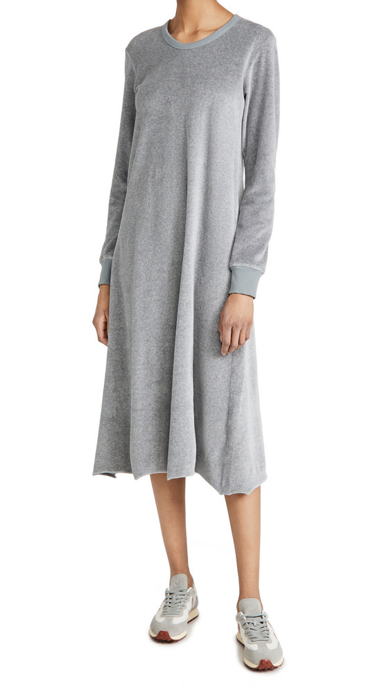 Wilt A-Line Velour Dress in grey