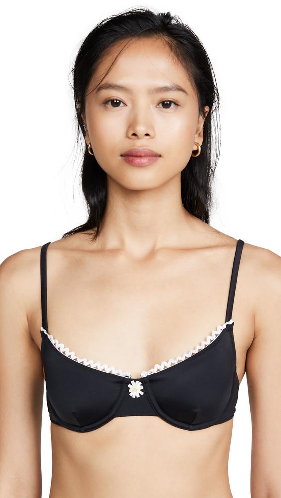 Solid & Striped The Daphne Bikini Top in black