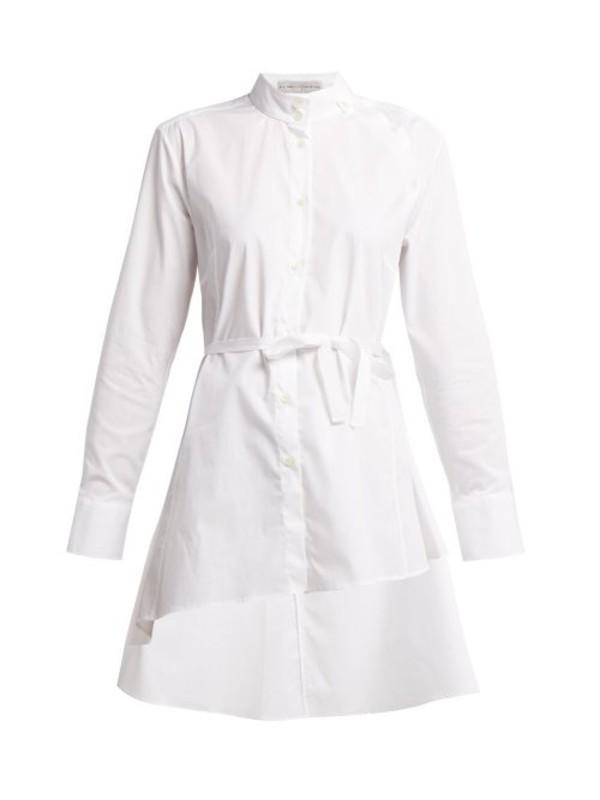 Palmer/harding Palmer//harding - Split Collar Cotton Poplin Shirt - Womens - White