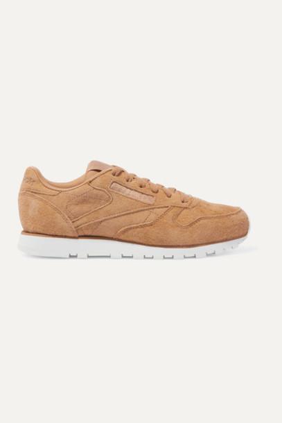 Reebok - Classic Suede Sneakers - Camel