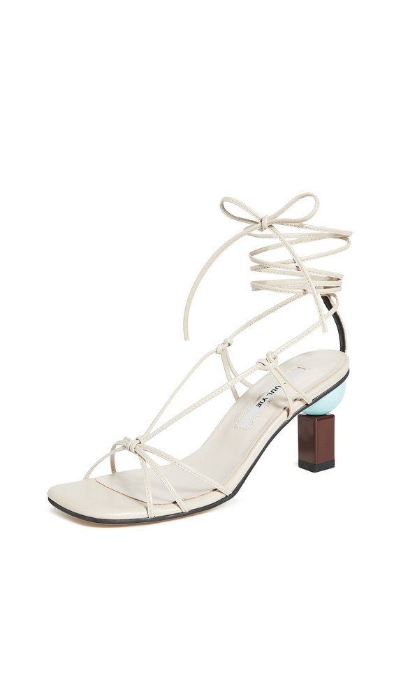 Yuul Yie Trophy Lace-Up Sandals in beige