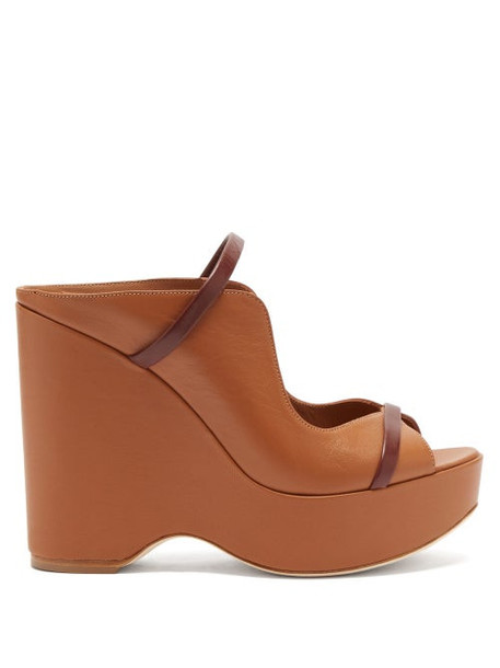 Malone Souliers - Norah Leather Wedges - Womens - Tan