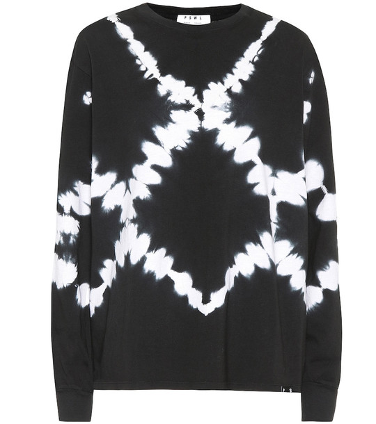 Proenza Schouler Tie-dye cotton top in black