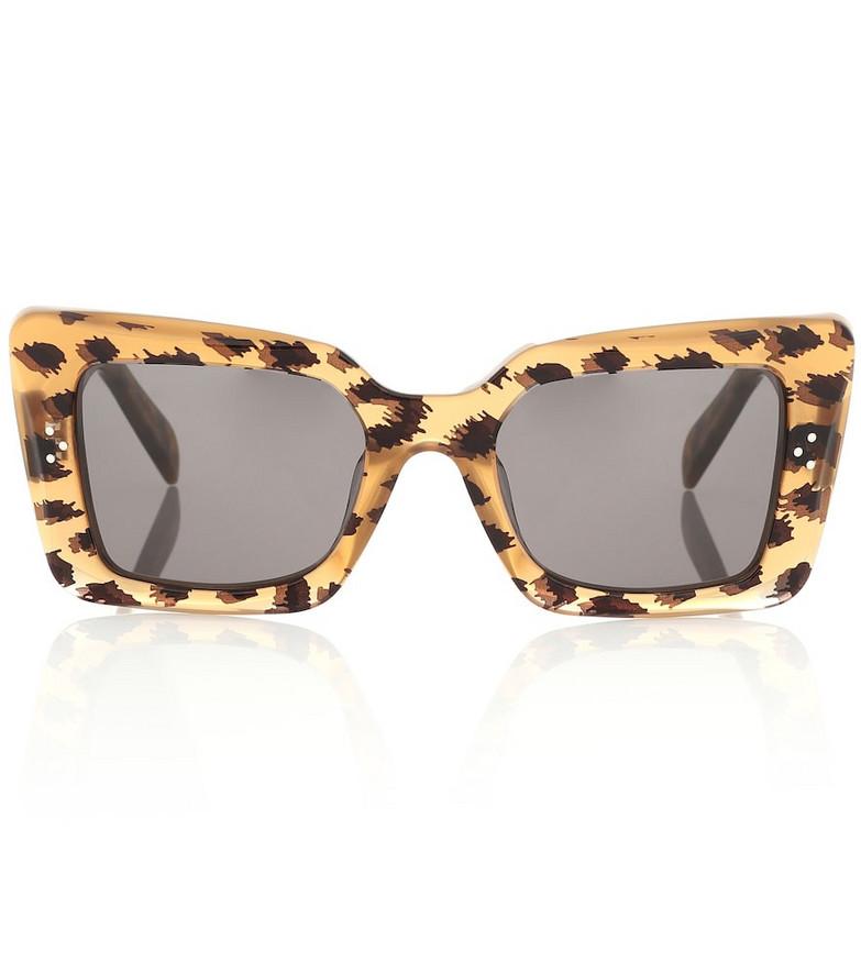 Celine Eyewear Cat-eye sunglasses in brown