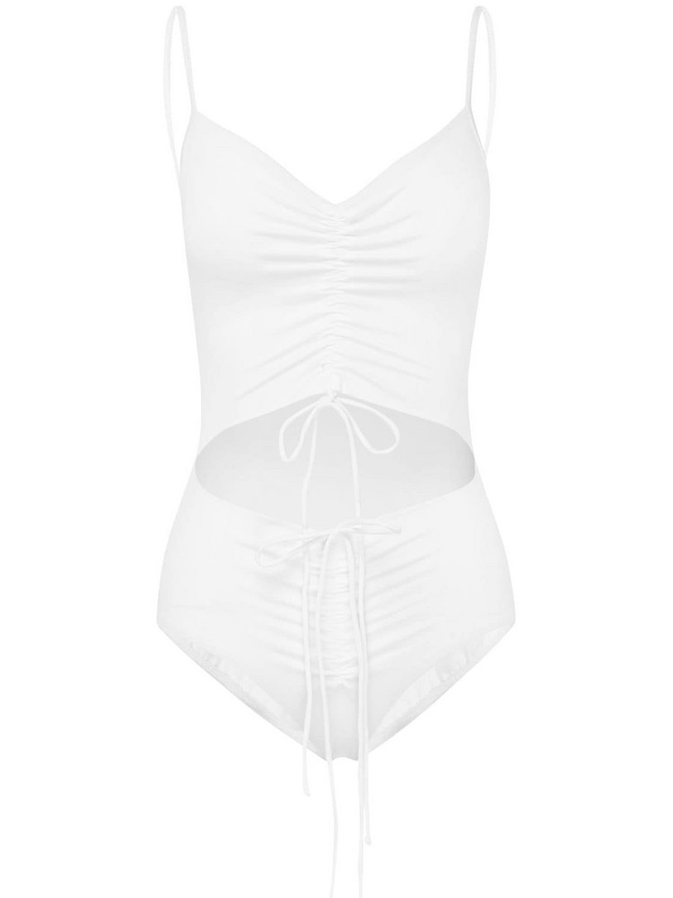 CHRISTOPHER ESBER Disconnect Lycra One Piece Swimsuit in white