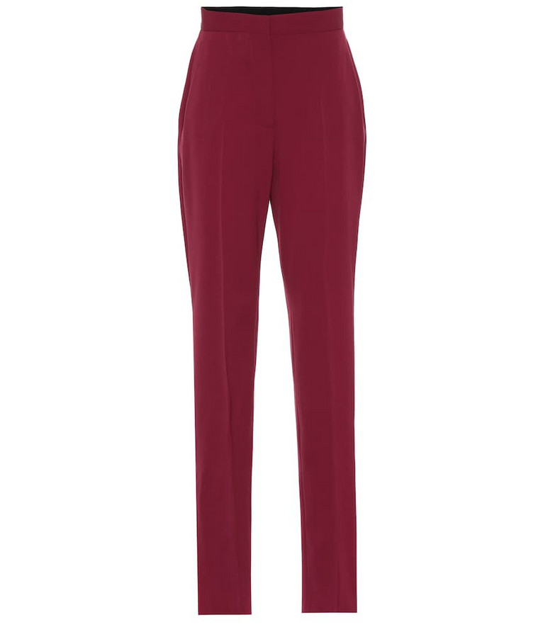 Stella McCartney High-rise pants in red