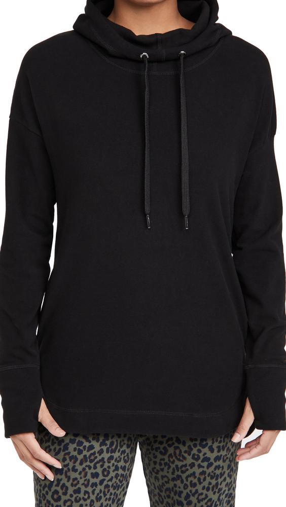 Sweaty Betty Escape Lux Fleece Hoodie in black