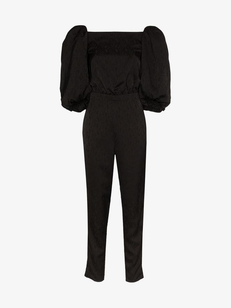 Johanna Ortiz Cosmic jacquard jumpsuit in black