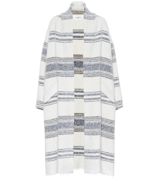Isabel Marant, Étoile Faby striped maxi cardigan in white