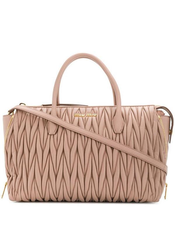 Miu Miu matelassé 2way bag in pink