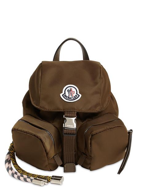 MONCLER Mini Dauphine Nylon Backpack in green