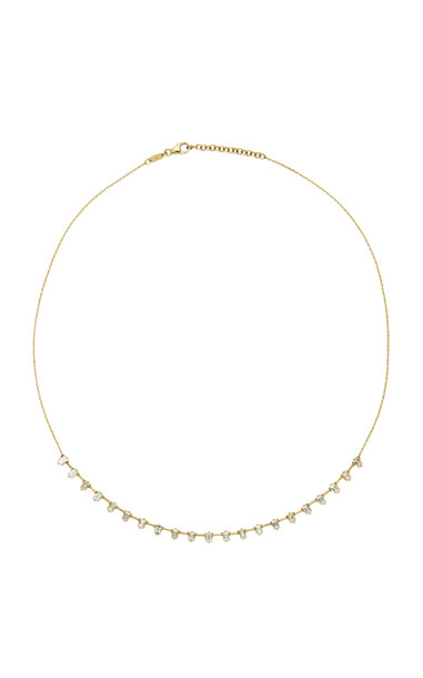 AS29 Baguette Diamond & 18K Yellow Gold Necklace