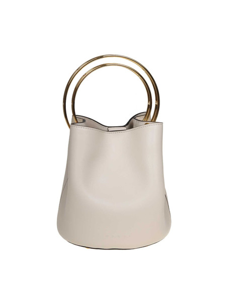 Marni Leather Hand Bag in white