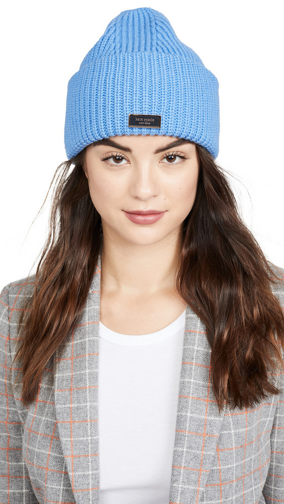 Kate Spade New York Name Label Beanie in blue