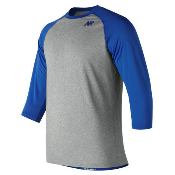 New Balance 601 Men's 3/4 Baseball Raglan Top - Blue (TMMT601TRY)