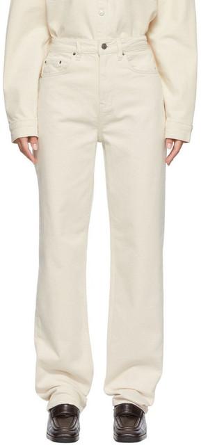 Ksubi Off-White Playback Jeans in ecru