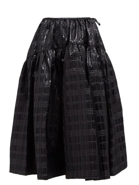 Cecilie Bahnsen - Rosie Checked Lamé Skirt - Womens - Black