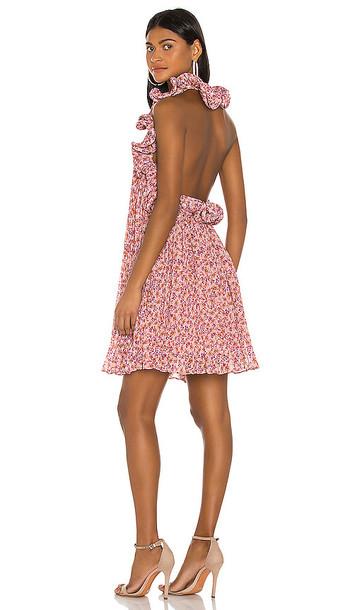 AMUR Mimi Dress in Pink