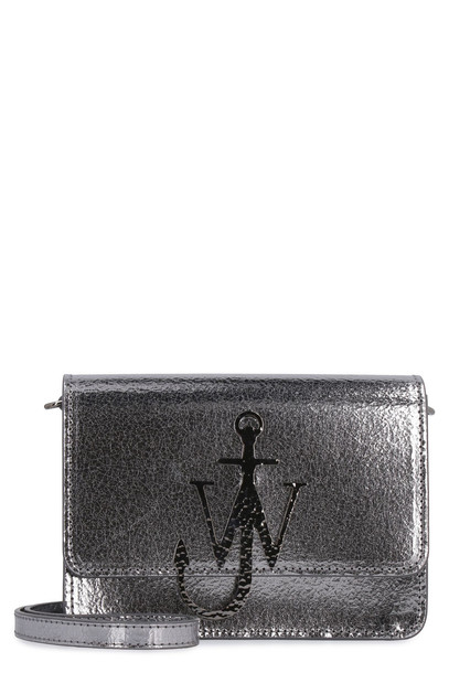 J.W. Anderson Anchor Logo Leather Shoulder Bag in silver
