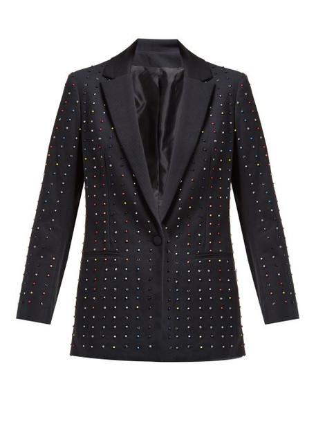 Koché Koché - Bead Embellished Cotton Blend Blazer - Womens - Black Multi
