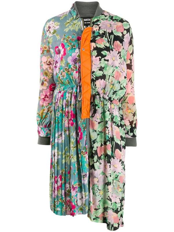 Junya Watanabe floral print coat in black