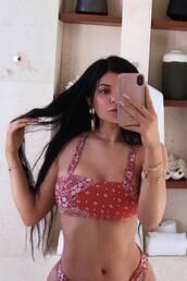 swimwear,kylie jenner,kardashians,bikini,bikini top,bikini bottoms,instagram