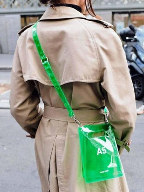 NANA NANA A5 Pvc Shopping Bag in green