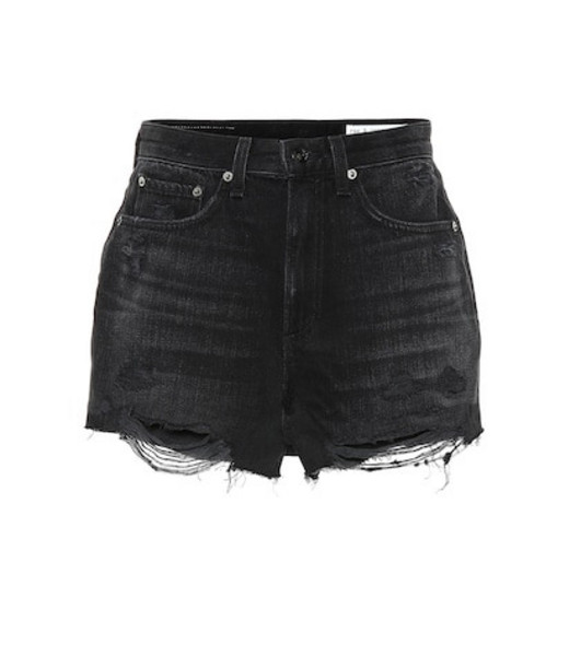 Rag & Bone Maya high-rise denim shorts in black