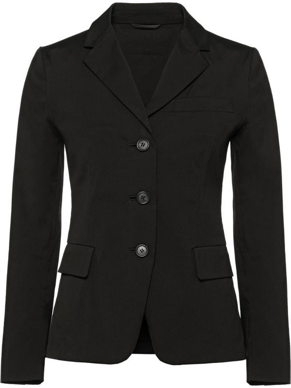 Prada Stretch cotton poplin jacket in black