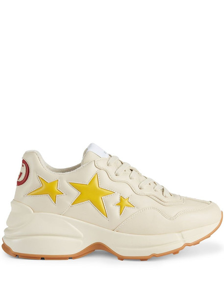 Gucci Rhyton star-patch sneakers - Neutrals