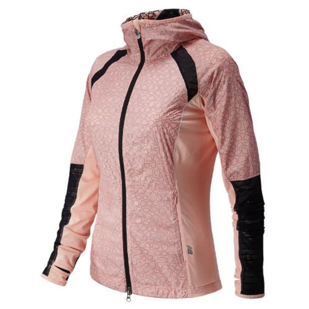 New Balance 5142 Women's Performance Jacket - Luxe Pink, Black (WRJ5142KLXP)