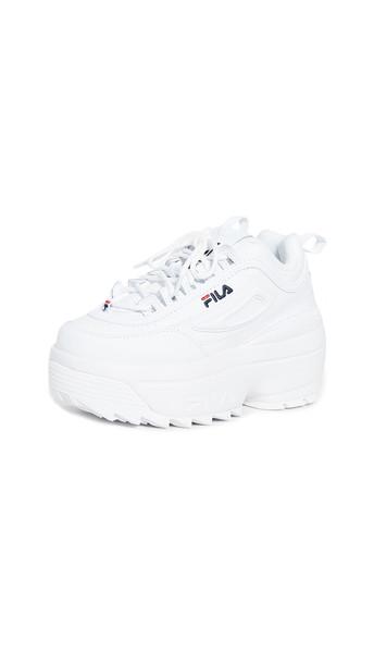 Fila Disruptor II Wedge Sneakers in navy / red / white