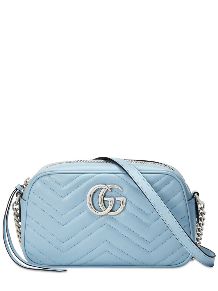 GUCCI Gg Marmont 2.0 Leather Shoulder Bag in blue