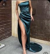 dress,strapless,formal dress,graduation dress,silk dress