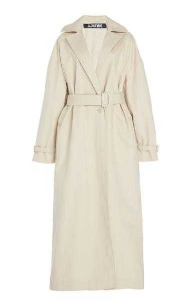 Jacquemus Le Manteau Arles Cotton-Gabardine Trench Coat in neutral
