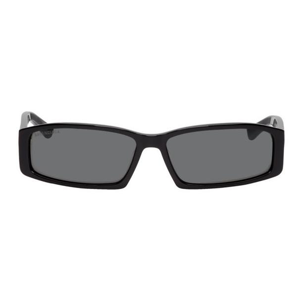 Balenciaga Black Neo Square Sunglasses