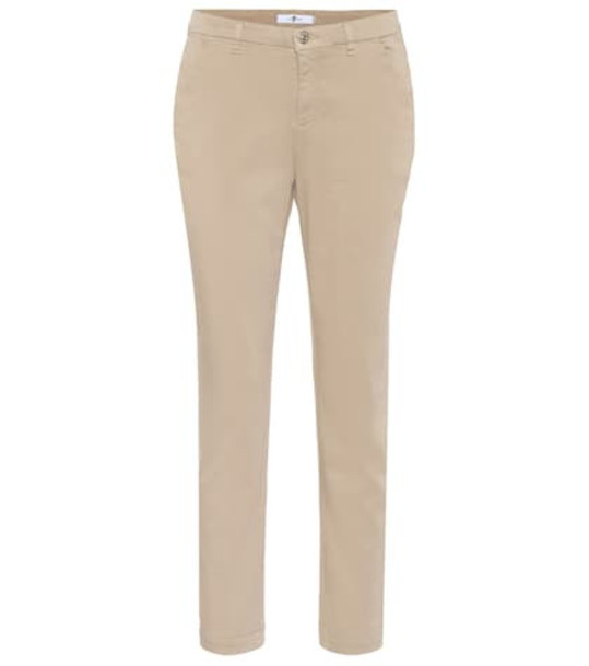 7 For All Mankind Cotton-blend chinos in beige