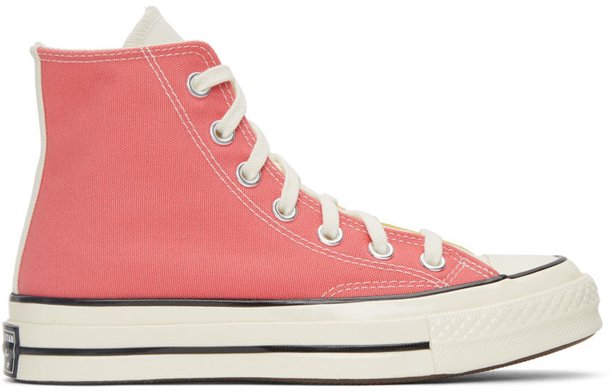 Converse Multicolor Hybrid Chuck 70 High Sneakers in gold / pink