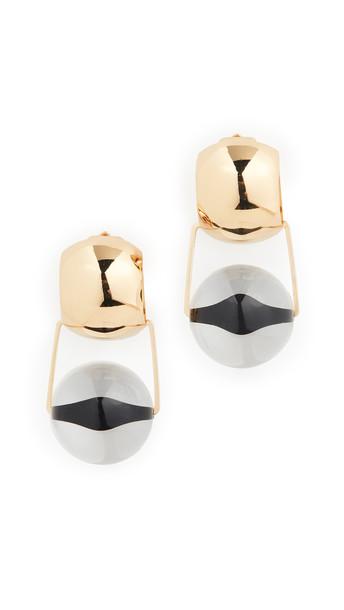 Rachel Comey Toca Earrings in black / gold / clear