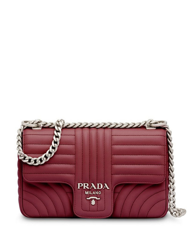 Prada Diagramme shoulder bag in red
