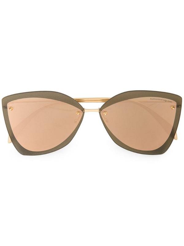 Alexander McQueen Eyewear oversized tinted sunglasses in metallic