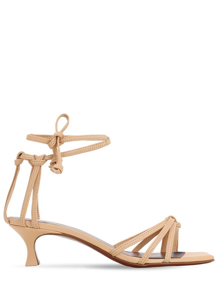 MANU ATELIER 50mm Leather Sandals in beige