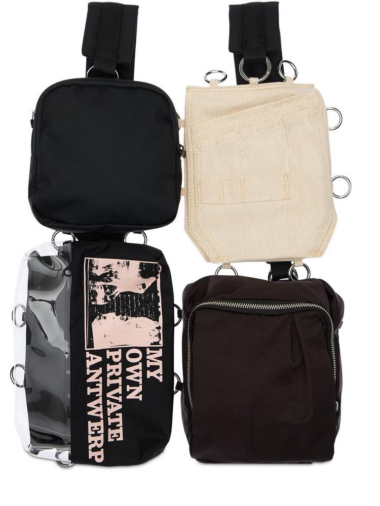 EASTPAK BY RAF SIMONS 6l Eastpak Rs Pocketbag Loop Backpack in black / beige