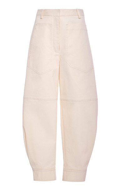 Tibi Myriam Twill Sculpted Pant Size: 0 in white