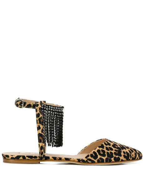 Polly Plume Minnie ballerinas in brown