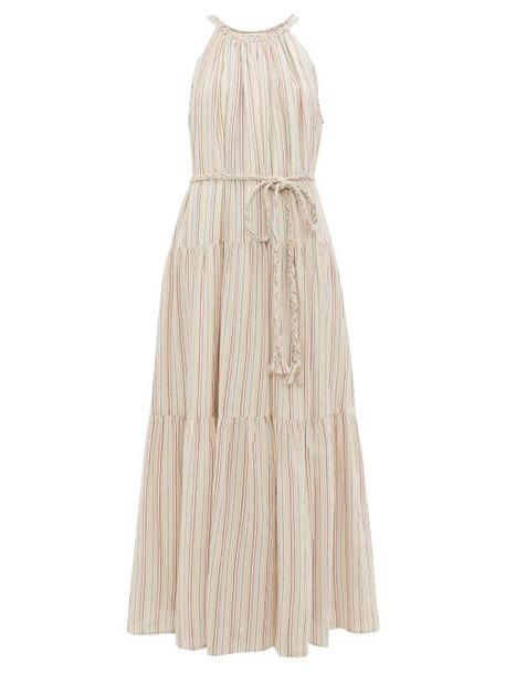 Apiece Apart - Escondido Tiered Striped Cotton Maxi Dress - Womens - Multi