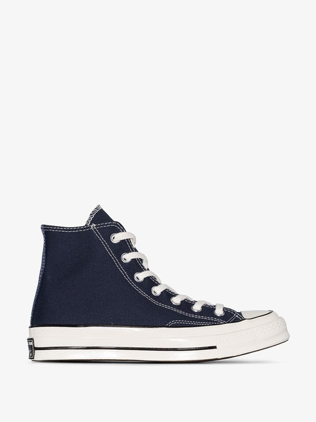 Converse Navy Chuck 70 high top canvas sneakers