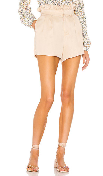 cupcakes and cashmere Leah Short in Tan