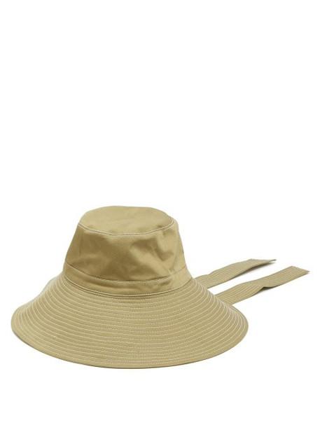 423e14215558 Ganni - Hewson Wide Brim Safari Hat - Womens - Green - Wheretoget