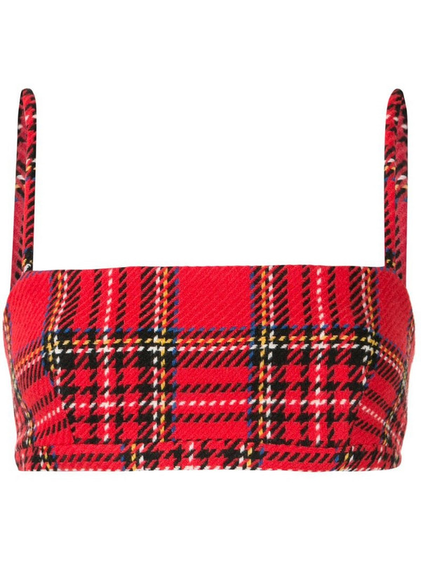 Macgraw Abbey checked bra top in red